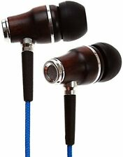 Symphonized NRG Premium Genuine Wood In-ear Noise-isolating Headphones (Blue)