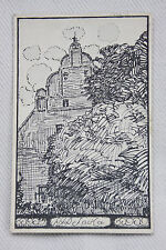 Künstler-Ak Schloß Rittergut Sacka, Dresden,Meißen,Thiendorf, Tauscha, Zeichnung