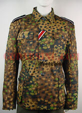 WWII German 44 Dot ( Pea Dot)  Camo Field Tunic (with full insignia set ) M