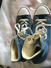Denim Converse All Stars High Top Size 6.5 Rare Floral Tongue Worn Once Cost £50