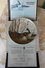 Dominion China Plate - Wings Upon the Wind - Nesting - COA & Insert & Mailer