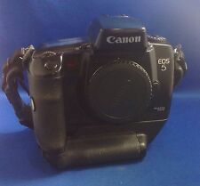 CANON EOS 5 EOS5 35MM SLR FILM CAMERA BODY, VERTICAL GRIP VG 10, HAND STRAP