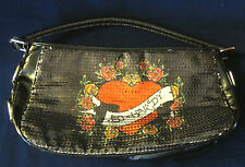 NEW ED HARDY CHRISTIAN AUDIGIER AGNES SEQUIN HANDBAG - PURSE