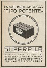 Z2297 SUPERPILA - Batteria anodica Tipo Potente - Pubblicità 1928 - Vintage ad