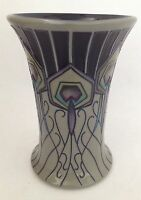 MOORCROFT BEAUTIFUL PEACOCK PARADE VASE BY NICOLA SLANEY 6.25""