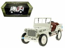 WELLY 1:18 WWII MODELS WILLY'S 1/4 TON U.N. ARMY TRUCK Diecast Car 18036UN-W-HZ