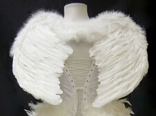 White Feather Wings Angel Fairy Costume Carnival Burlesque Halloween