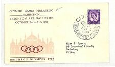 AT110 1959 GB *BRIGHTON* *SUSSEX* Olympic Games Philatelic Exhibition Cover PTS