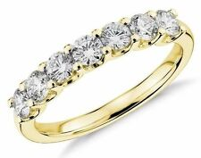 0.75CT Round Lab Created Diamond Wedding Ring 14k Yellow Gold