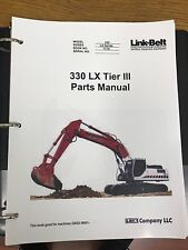 LINK BELT 330 LX TIER 3 EXCAVATOR PARTS MANUAL BINDER