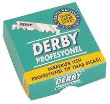 100 DERBY PROFESSIONAL SINGLE EDGE RAZOR BLADES FOR STRAIGHT RAZORS x 100 PIECES