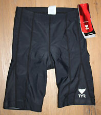 "NEW TYR WOMEN'S 8"" TRIATHLON Black WORKOUT SHORTS with PAD - USA Made - XS"