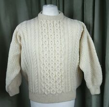 Aran 100% Pure New Wool Cable Heavy Jumper by Murray Brothers of Scotland