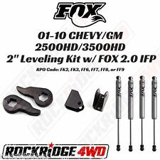 """2"""" Leveling Kit w/ FOX 2.0 Performance IFP for 01-10 CHEVY / GM 2500HD / 3500HD"""