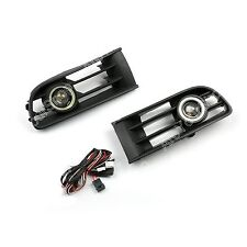Front Bumper Angel Eyes Fog Lights Driving Lamps For 2001-2005 VW Polo Hatch 9N1