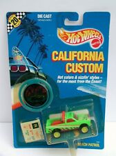 Hot Wheels MOC California Custom  * Beach Patrol * 1989  TW 1/64