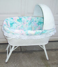 Wicker Basket Nursery Convertible Car Doll Bed Crib Cradle Bassinette Bassinet
