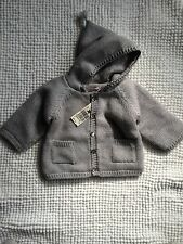 ��Bonpoint Infant Boys Gray Sweater Coat w/Hood 1mth