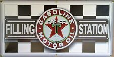 TEXACO GAS FILLING STATION NEON EFFECT PRINTED BANNER NEW GARAGE ART SIGN 2 X 4