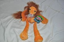 Stuffed Animal Slumpers African Cat Toys Berk  Lion 1999 Plush Toy Retired New