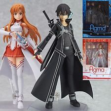 2Pcs Sword Art Online SAO Asuna Kirito Action Figure Figma Figurine in Box Gift