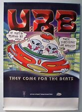 "UR8 - ""THEY COME FOR THE BEATS"" - ORIGINAL PROMO POSTER - OZ INDIE"