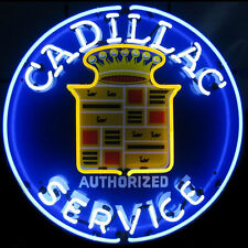 Cadillac  Service Large Neon Sign W/ Backing For Garage Man Cave Art - New