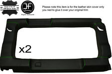 GREEN STICH 2X REAR WINDOW PANEL TRIM LEATHER COVERS FITS DEFENDER 110 SW 83-16
