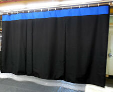 New! Stage Curtain/Backdrop 10 H x 25 W, Non-FR, Black with Accent Color