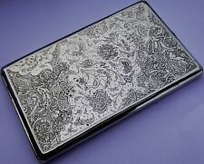 Exquisite Quality Antique Persian Islamic Solid Silver Cigarette Case Heavy 181g