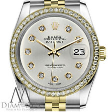 Womens Rolex 26mm Datejust 2 Tone Silver Color Dial with 10Round Diamond Accent