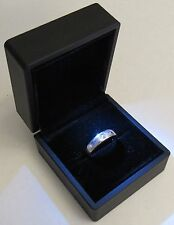 Black LED Lighting Jewelry Engagement Wedding Ring Gift Box BR00001