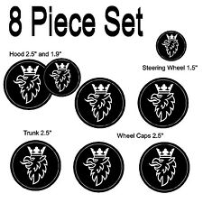 Saab Black White Griffen Replacement Decal Sticker 8 Piece Set #1012