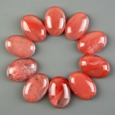 Beautiful Unique Oval 10pcs 25x18mm Cherry Quartz Cab Cabochon NO.E-ZS5