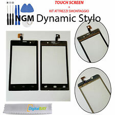 TOUCH SCREEN VETRO GLASS NERO DISPLAY SCHERMO PER NGM DYNAMIC STYLO + KIT