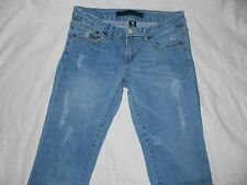 Women's Juniors Jeans Size 5 Regular Distressed Refuge Brand Straight Leg