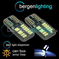2X W5W T10 501 CANBUS ERROR FREE WHITE 24 SMD LED SIDELIGHT BULBS SL103804