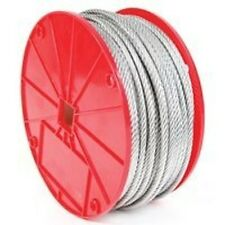 "NEW KOCH 003292 3/8"" X 250FT ROLL GALVANIZED AIRCRAFT STEEL ROPE CABLE 0387928"