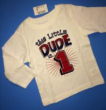 ~NEW~ 1st Birthday 1 Year Baby Boys DUDE Graphic Shirt 12-18 Months Gift! Party