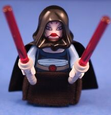 LEGO® STAR WARS™ 7676 ASAJJ VENTRESS™ Minifigure + Black Skirt, hood, & sabers