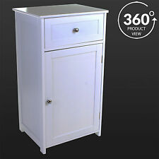 Bathroom Cabinet Unit White Storage Drawer Door Wooden Cupboard Bedside Table