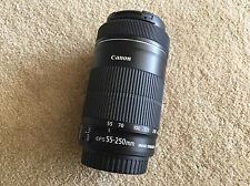 Canon EF-S 55-250mm f/4-5.6 IS STM Telephoto Zoom Lens - Excellent Condition!!