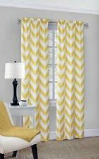 "SET OF 2 YELLOW 84"" MODERN GEOMETRIC CHEVRON CURTAIN PANELS WINDOW TREATMENTS"
