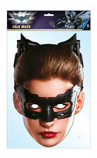 Catwoman Official Batman 2D Card Party Face Mask Fancy Dress Up Anne Hathaway