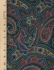 Dark Paisley unbranded   100% Cotton  Fabric priced by 1/2 yd