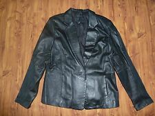 Jaclyn Smith Classic Leather Spring/Fall Jacket Women's Size Large