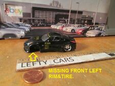 Dub City Jada Blk Nissan 350Z 1:64 DIORAMAS (MISSING LEFT FRONT WHEEL&REAR WING!