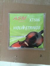 VIOLIN STRINGS 4/4, NICKEL SILVER WOUND, ASM BRAND, NICELY PACKAGED, UK SELLER,