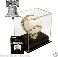 ✯ BCW ACRYLIC GOLD GLOVE BASEBALL DELUXE DISPLAY CASE - UV PROTECTION HOLDER ✯