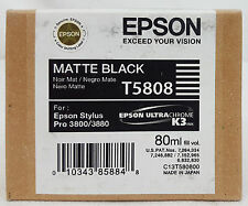 Epson Stylus Pro T5808 MATTE BLACK Ink Cartridge for 3800/3880 Exp 4/13 SEALED